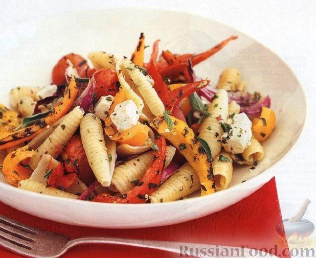 Рецепт Макароны с жареными овощами и сыром