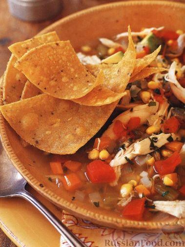 Рецепт Суп овощной с куриным мясом и кукурузой