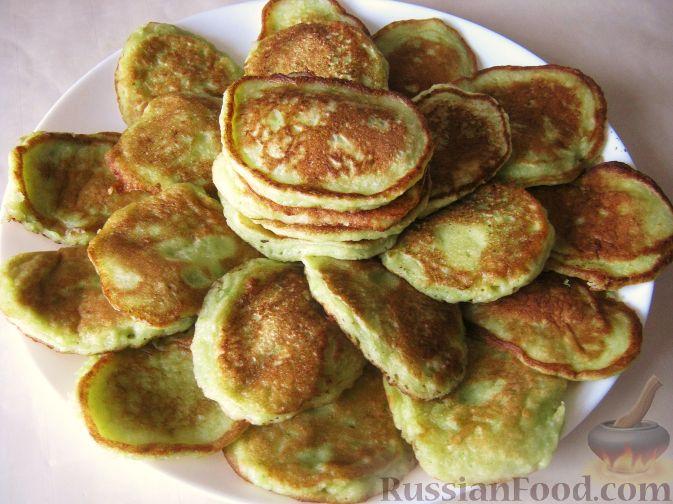 Рецепт Сладкие оладьи из кабачков