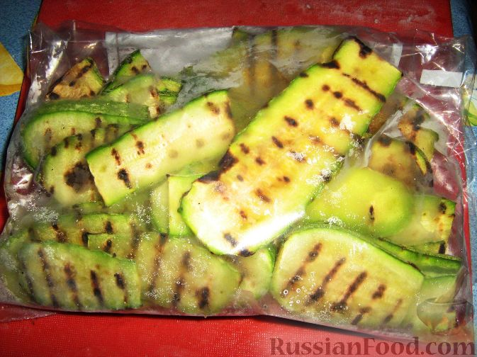 Рецепт Кабачки-гриль на зиму