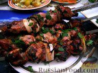 Фото к рецепту: Шашлык из свинины, маринованной в кефире