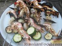 """Фото к рецепту: Шашлыки """"Морские"""""""