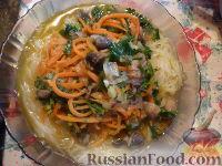 Фото к рецепту: Лагман постный с грибами и рисовой лапшой