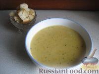 Фото к рецепту: Гороховый суп-пюре с сухариками