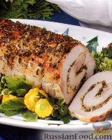 Фото к рецепту: Свиной рулет с травами