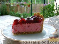 Фото к рецепту: Торт творожно-вишневый (чизкейк)