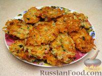 Фото к рецепту: Картофельные оладьи с сыром и ветчиной