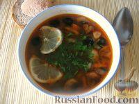 Фото к рецепту: Грибная солянка (постная)