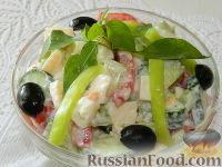 "Фото к рецепту: Салат с сыром ""Радуга"""