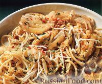 Фото к рецепту: Спагетти с фенхелем и беконом
