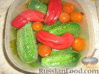 Фото к рецепту: Малосольные овощи