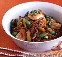 Фото к рецепту: Коричневый рис с куриным филе и фасолью