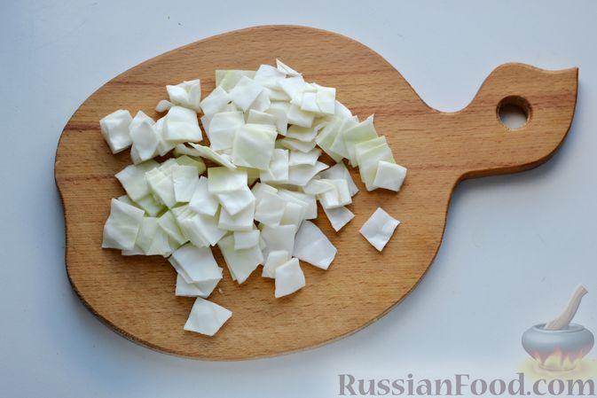 Фото приготовления рецепта: Молочный суп с овощами - шаг №4