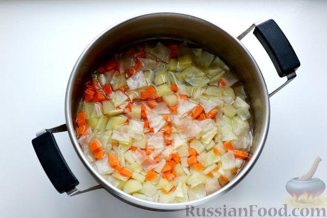Фото приготовления рецепта: Молочный суп с овощами - шаг №5