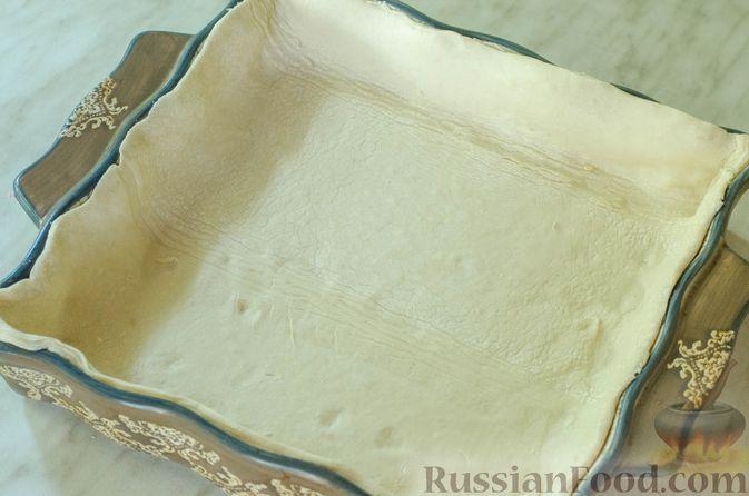 Фото приготовления рецепта: Киш с брокколи в яично-сырной заливке и беконом - шаг №2