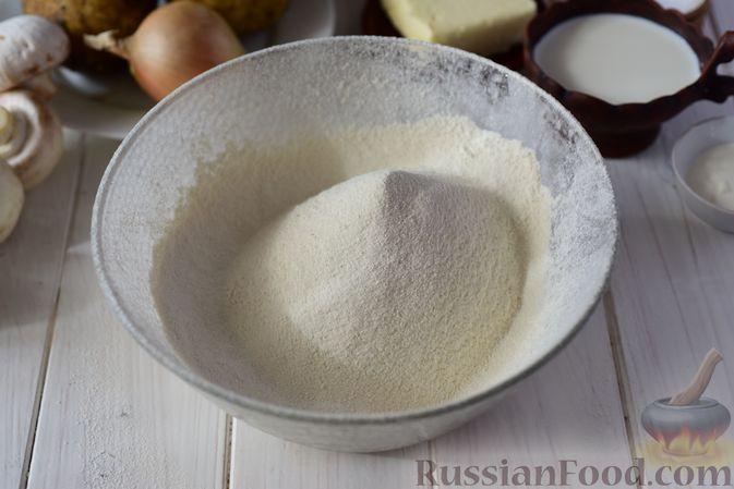 Фото приготовления рецепта: Шанежки с картофелем и грибами - шаг №2