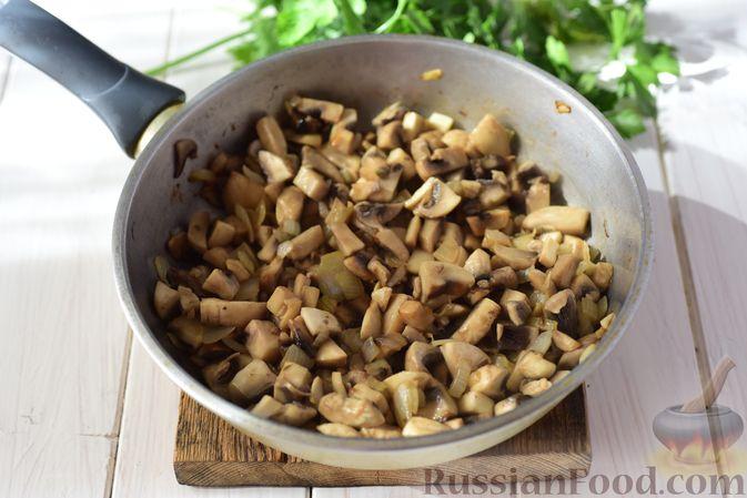 Фото приготовления рецепта: Шанежки с картофелем и грибами - шаг №10