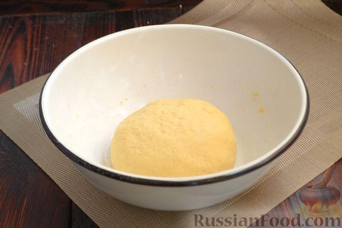 Фото приготовления рецепта: Кукурузный хлеб на кефире - шаг №5