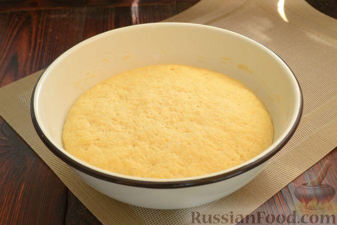 Фото приготовления рецепта: Кукурузный хлеб на кефире - шаг №6