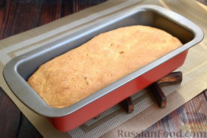 Фото приготовления рецепта: Кукурузный хлеб на кефире - шаг №9