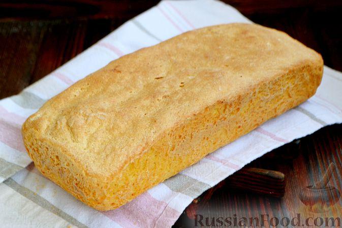Фото приготовления рецепта: Кукурузный хлеб на кефире - шаг №10