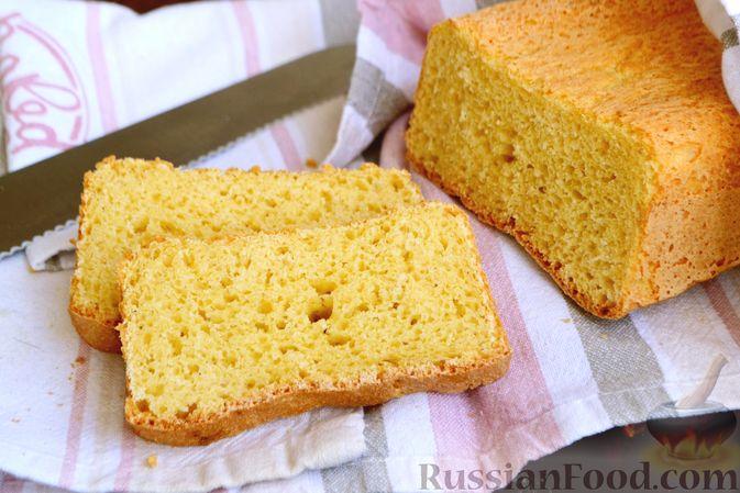Фото приготовления рецепта: Кукурузный хлеб на кефире - шаг №11