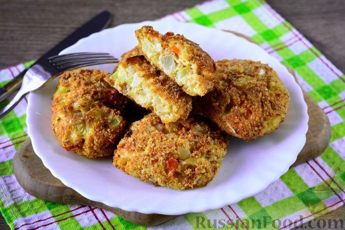 Фото к рецепту: Котлеты из болгарского перца с сыром (в духовке)