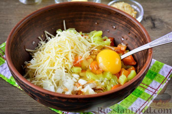 Фото приготовления рецепта: Котлеты из болгарского перца с сыром (в духовке) - шаг №8