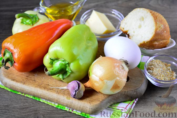 Фото приготовления рецепта: Котлеты из болгарского перца с сыром (в духовке) - шаг №1