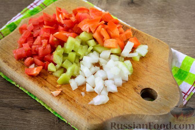 Фото приготовления рецепта: Пирожки из слоёного теста с овощной начинкой - шаг №9
