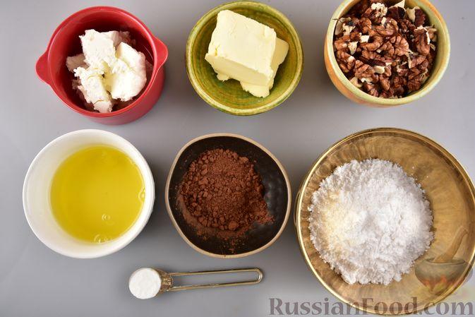 Фото приготовления рецепта: Конфеты из безе с грецкими орехами и творожным сыром - шаг №1