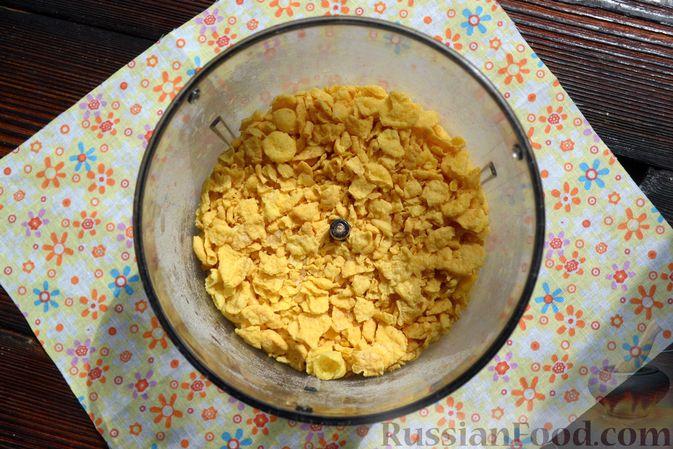 Фото приготовления рецепта: Тарталетки из лаваша с мороженым, кукурузными хлопьями и мёдом - шаг №8