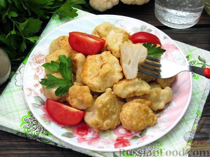 Фото приготовления рецепта: Жареная цветная капуста в кляре на минеральной воде - шаг №16