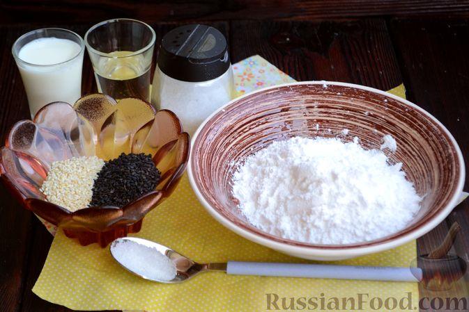 Фото приготовления рецепта: Шоколадно-кофейный кекс на молоке, с тахинной глазурью - шаг №10