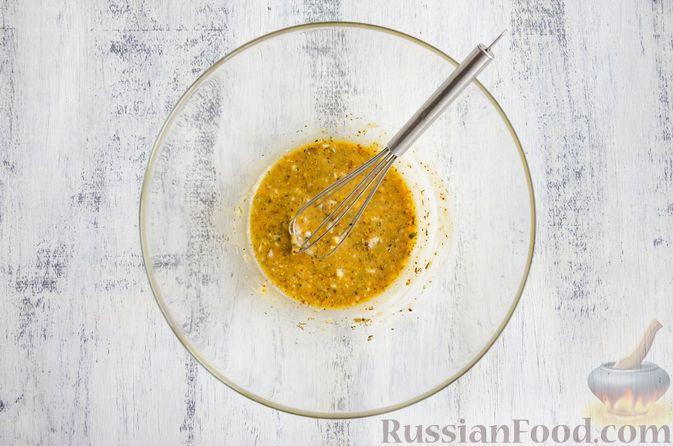 Фото приготовления рецепта: Запечённые перепела в медово-горчичном маринаде с чесноком - шаг №3