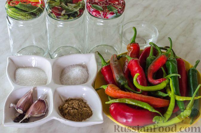 Фото приготовления рецепта: Маринованный острый перец по-корейски - шаг №1