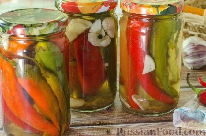 Фото приготовления рецепта: Маринованный острый перец по-корейски - шаг №13