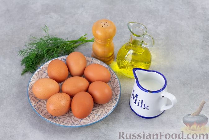 Фото приготовления рецепта: Желтковый омлет с зеленью - шаг №1