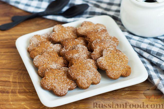Фото к рецепту: Медово-ржаное печенье