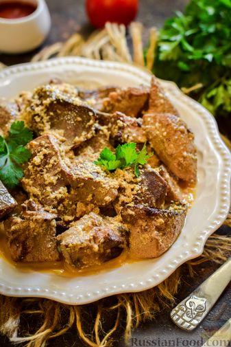 Фото приготовления рецепта: Свиная печень, тушенная в кефире - шаг №7