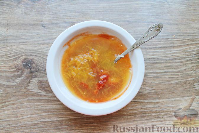 Фото приготовления рецепта: Шашлык из куриных сердечек в маринаде из соевого соуса и апельсинового сока (в духовке) - шаг №8