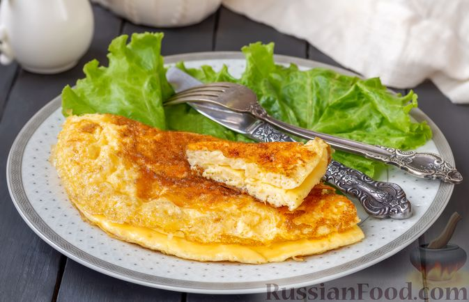 Фото к рецепту: Омлет с сырной корочкой