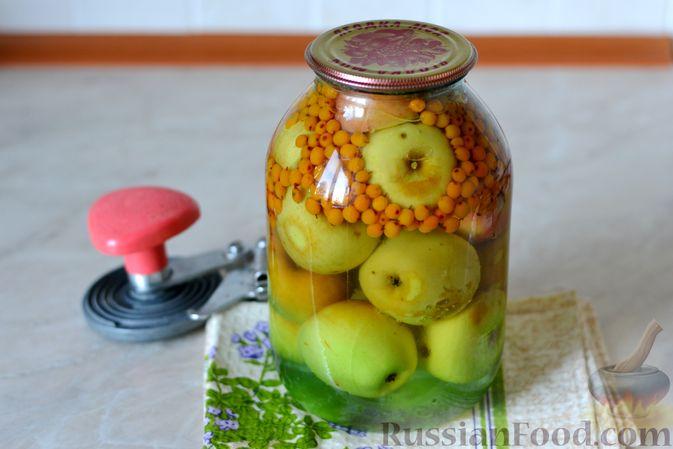Фото приготовления рецепта: Компот из яблок и облепихи - шаг №15