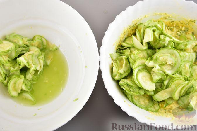 Фото приготовления рецепта: Пирог-запеканка с кабачками и творогом - шаг №12