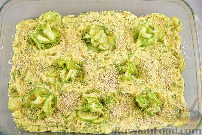 Фото приготовления рецепта: Пирог-запеканка с кабачками и творогом - шаг №16