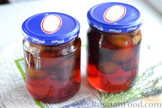 Фото приготовления рецепта: Варенье из слив, фаршированных грецким орехом - шаг №17