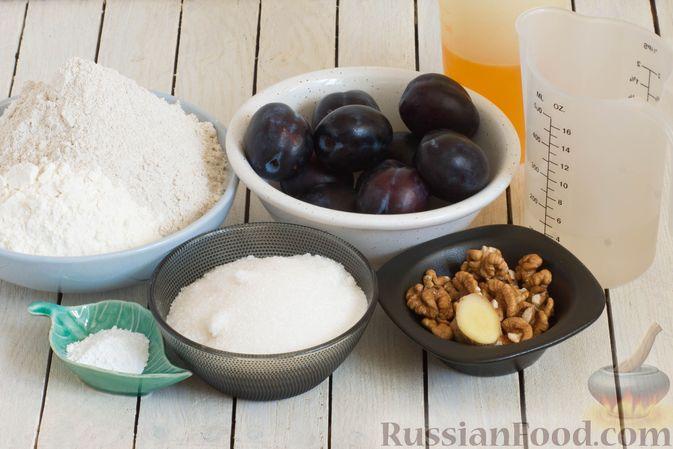 Фото приготовления рецепта: Пшенично-ржаные галеты со сливами и грецкими орехами - шаг №1