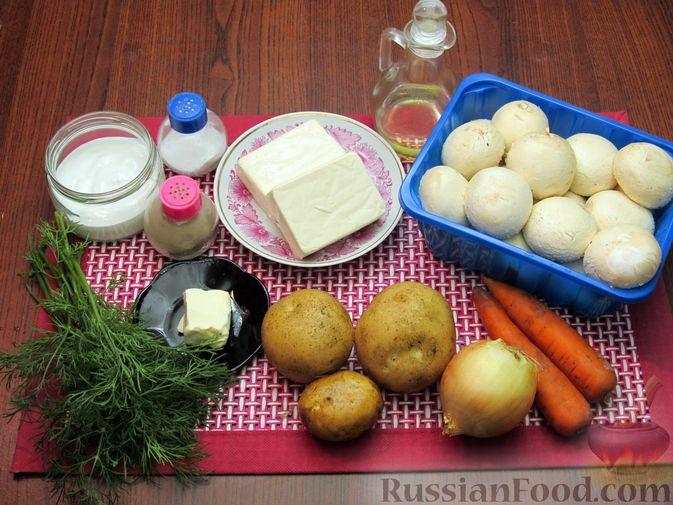 Фото приготовления рецепта: Сырный суп с шампиньонами - шаг №1