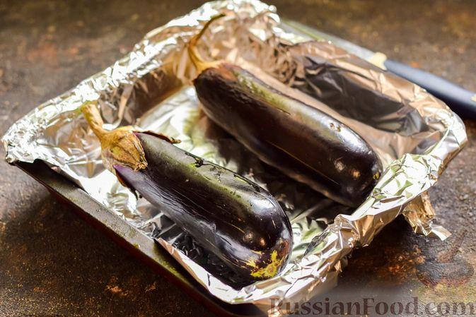 """Фото приготовления рецепта: Баклажаны с сырной начинкой, в """"шубке"""" из мясного фарша (в духовке) - шаг №2"""