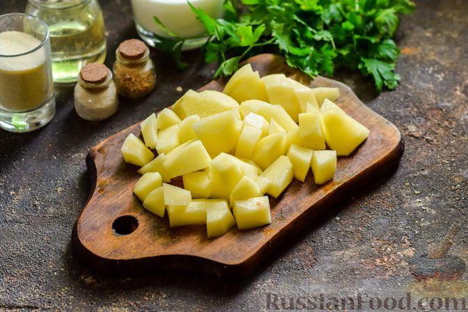 Фото приготовления рецепта: Сливочный суп  с мясными фрикадельками - шаг №2